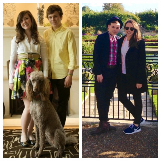 Lily and I as youngsters and now!